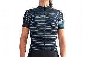 ORNOT Womens Blue Line Short Sleeve Jersey