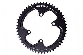 Rotor NoQ Round Chainrings - 110x4 Asymmetric BCD Outer