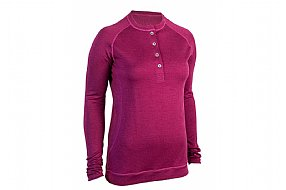 Showers Pass Womens Bamboo-Merino Long Sleeve Henley Shirt