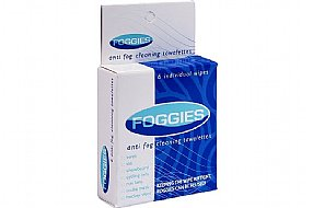 SBR Sports Foggies Anti-Fog Cleaning Towelettes: 6-Pack