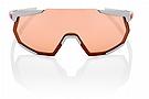 100% Racetrap Soft Tact Stone Grey/HiPER Coral Lens