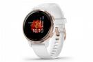 Garmin Venu 2S GPS Smartwatch Rose Gold Bezel w/White/Silicone Band