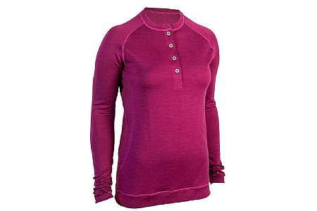 Showers Pass Womens Bamboo-Merino Long Sleeve Sport Henley