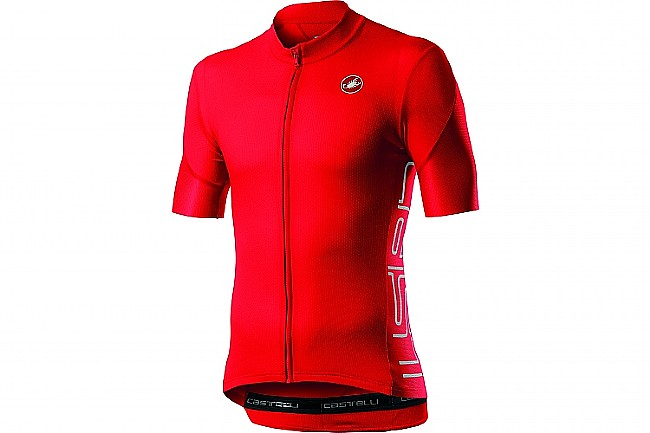 Castelli Mens Entrata V Jersey Fiery Red