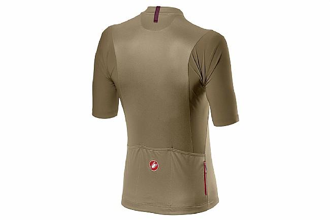 Castelli Mens Unlimited Jersey Dark Sand/Pro Red