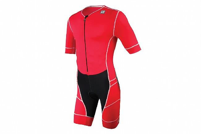 De Soto Mens Mobius Short Sleeve Tri Suit Red