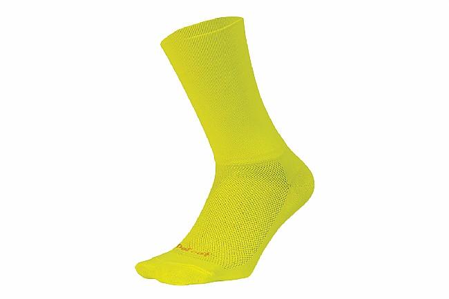 DeFeet Aireator 6 Inch Sock - D-Logo Hi-Vis Yellow