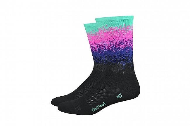 DeFeet Aireator 6 Inch Sock - Barnstormer Collection Ombre Black