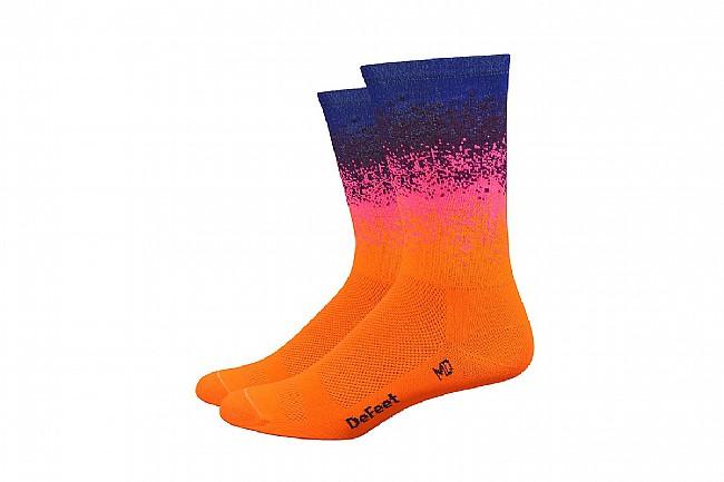 DeFeet Aireator 6 Inch Sock - Barnstormer Collection Ombre Orange