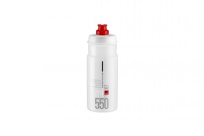 Elite Jet Water Bottle (550 ml) Clear w/ Red Logo