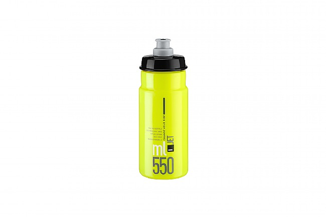 Elite Jet Water Bottle (550 ml) Yellow Fluo w/ Black Logo