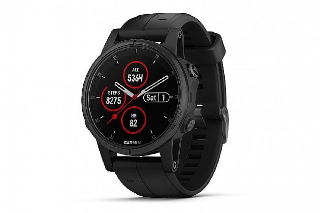 Garmin Fenix 5S Plus Sapphire GPS Watch Black/Black Band