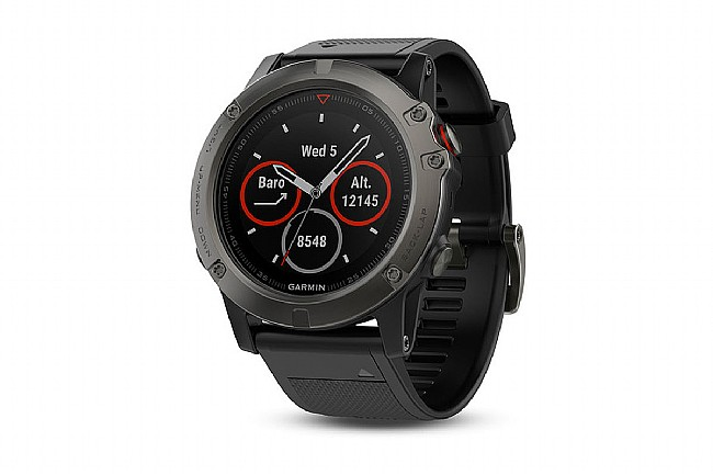 Garmin Fenix 5X Sapphire GPS Watch Slate Gray - Black Band