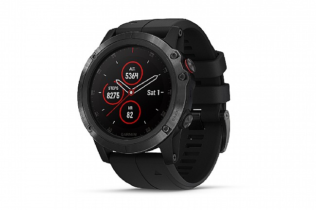 Garmin Fenix 5X Plus Sapphire GPS Watch Black - Black Band