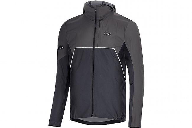 Gore Wear Mens R7 Gore-Tex Infinium Hooded Jacket Black/Terra Grey