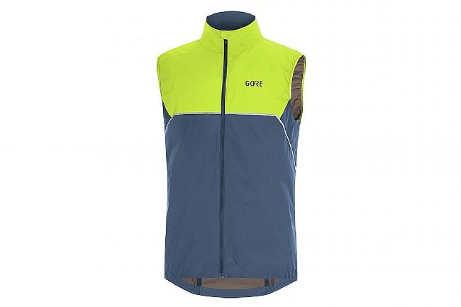 Gore Wear Mens R7 Partial Gore-Tex Infinium Vest Deep Water Blue/Citrus Green