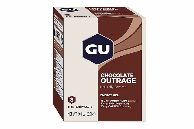 GU Energy Gels (Box of 8) Chocolate Outrage