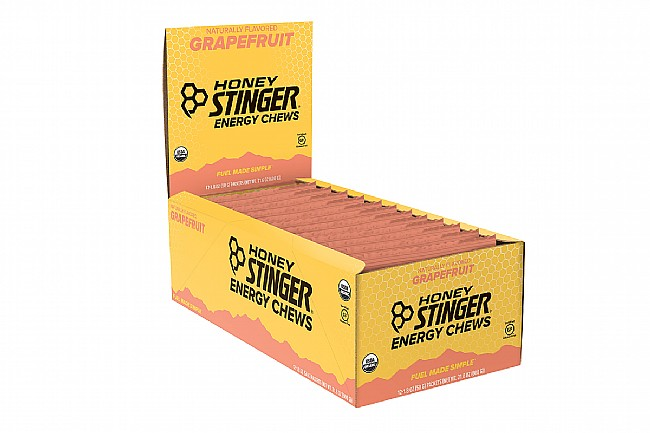 Honey Stinger Organic Energy Chews (Box of 12) Grapefruit