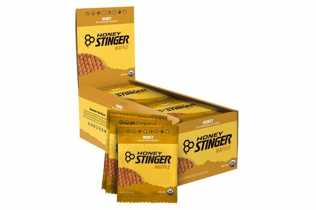 Honey Stinger Gluten Free Organic Waffles (Box of 16) Wildflower Honey