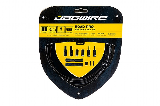 Jagwire Pro Polished Brake Cable Kit Black - Sram/Shimano