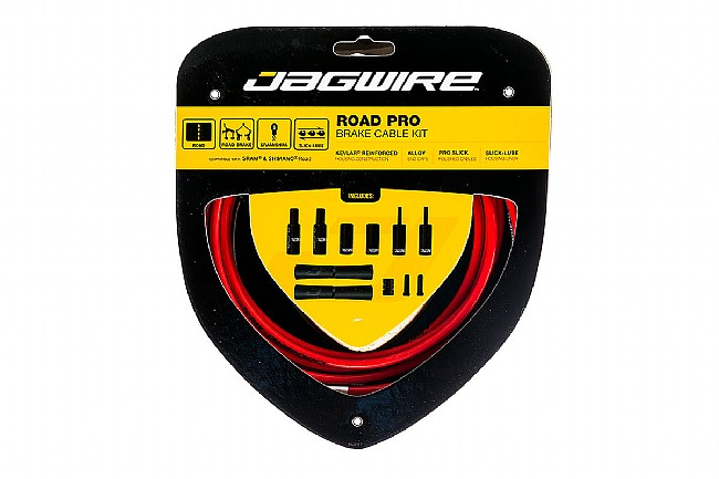 Jagwire Pro Polished Brake Cable Kit Red - Sram/Shimano