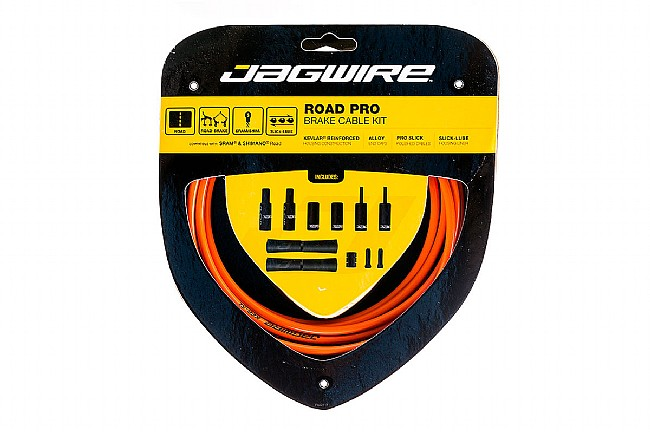 Jagwire Pro Polished Brake Cable Kit Orange - Sram/Shimano