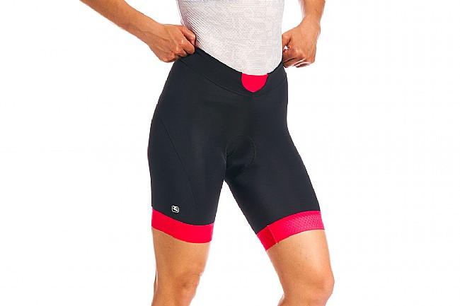 Giordana Womens SilverLine Shorts Black w/Hot Pink Accents