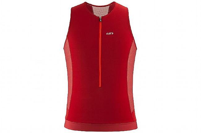 Louis Garneau Mens Sprint Tri Sleeveless Jersey Red Rock