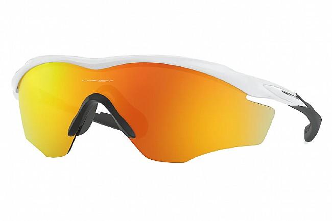 Oakley M2 Frame XL Sunglasses Polished White w/Fire Iridium