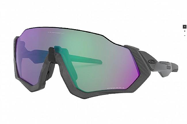 Oakley Flight Jacket Sunglasses Matte Steel - PRIZM Road Jade