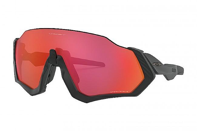 Oakley Flight Jacket Sunglasses Matte Black - Prizm Trail Torch
