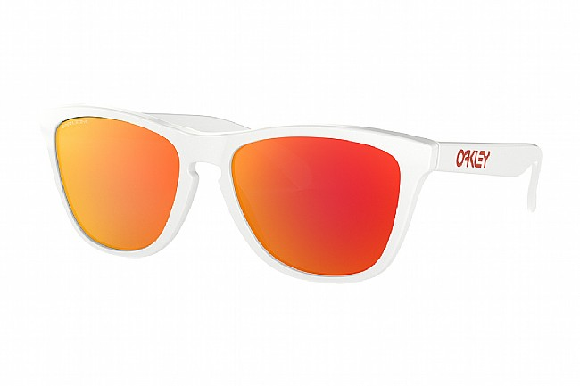 Oakley Frogskins Sunglasses (Asia Fit) Poished White w/ PRIZM Ruby