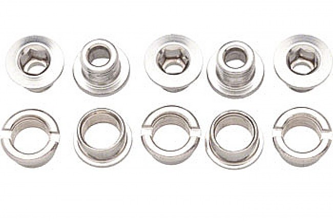 Problem Solvers Single Chainring Bolts Silver - Chromoly