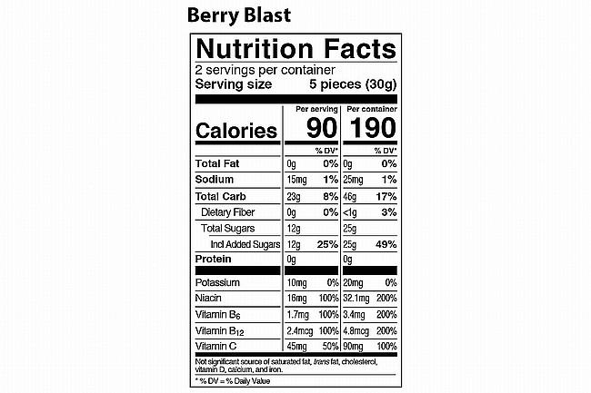 PROBAR Bolt Energy Chew (Box of 12) Berry Blast (with Caffeine)