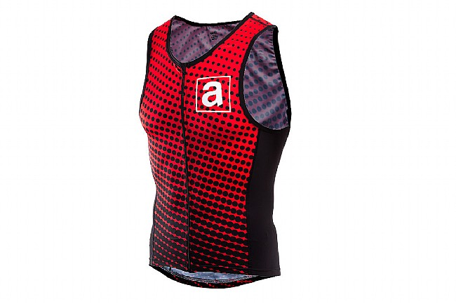 ProCorsa Mens Athletes Lounge Tri Top Black/Red - S
