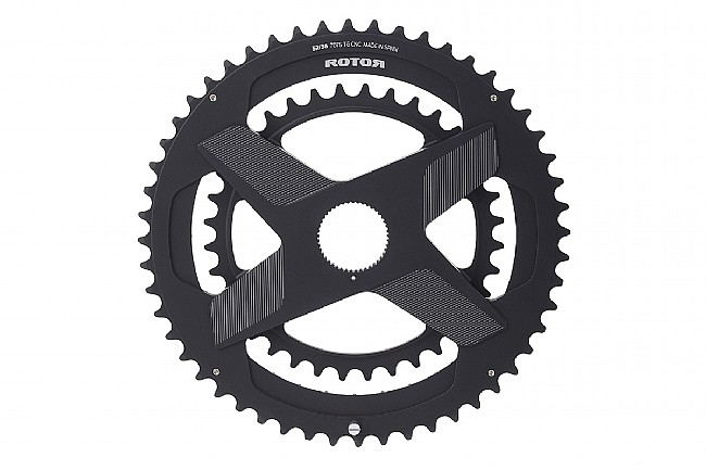 Rotor Aldhu Direct Mount Round Chainring Set 53/39 Tooth Round Rings