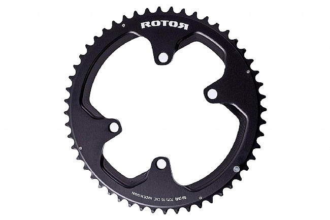 Rotor NoQ Round Chainrings - 110x4 Asymmetric BCD Outer  53 tooth