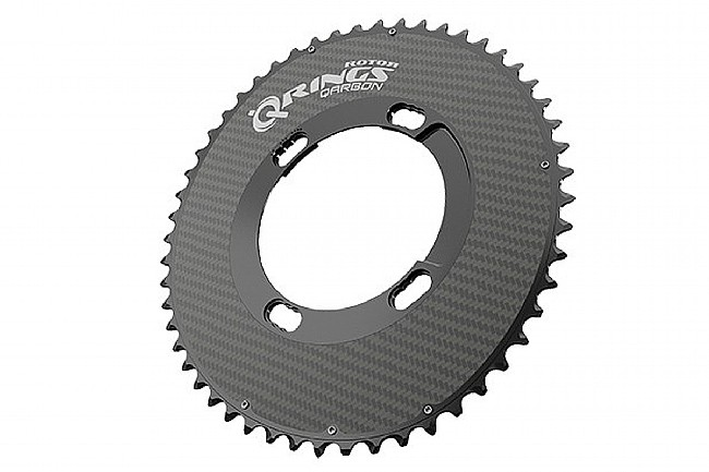 Rotor Qarbon - Carbon Q-Rings - 110x4 BCD Outer Aero 53 tooth