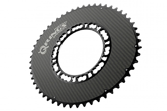 Rotor Qarbon - Carbon Q-Rings - 110x5 BCD Outer Aero 53 tooth