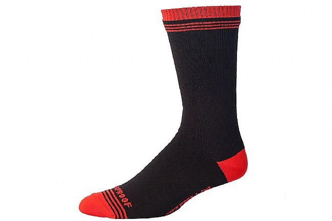 Showers Pass Crosspoint Waterproof Crew Socks Black/Chili Pepper