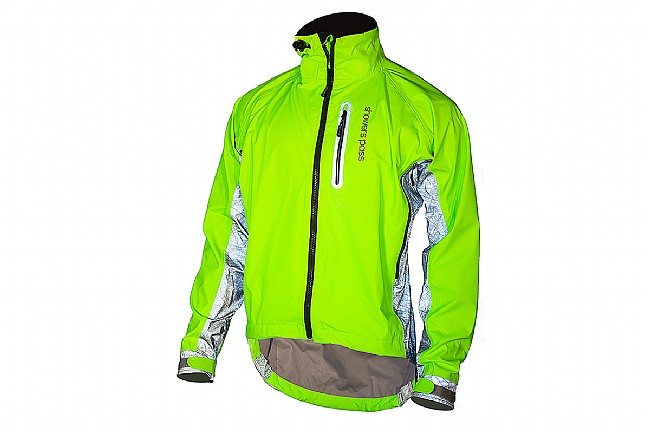 Showers Pass Mens Hi-Vis Elite Jacket Neon Green/ Map Reflect Silver