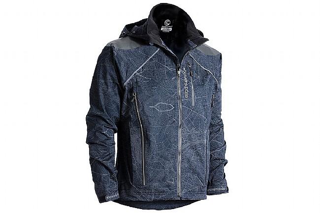 Showers Pass Mens Atlas Jacket Map Reflective Black