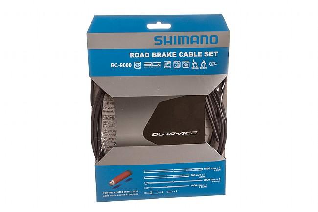 Shimano Polymer Coated Brake Cable Set Black