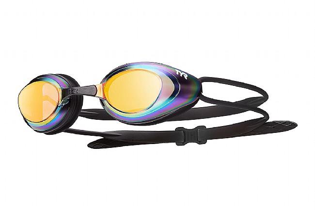 TYR Sport Black Hawk Racing Mirrored Goggle Gold/Metal Rainbow/Black
