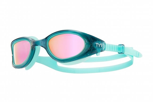 TYR Sport Special Ops 3.0 Femme Polarized Goggle Pink/Grey/Mint