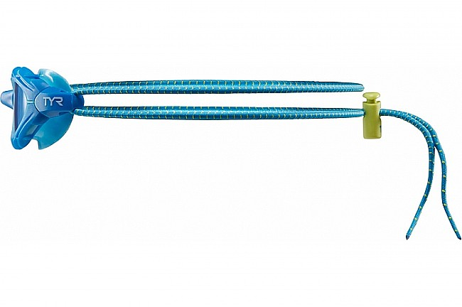 TYR Sport Goggle Bungee Cord Strap Kit Blue w/ Yellow Toggle