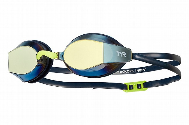 TYR Sport Black Ops 140 EV Racing Mirrored Goggle Gold/Navy