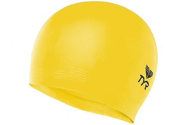TYR Sport Latex Swim Cap Fluorescent Yellow