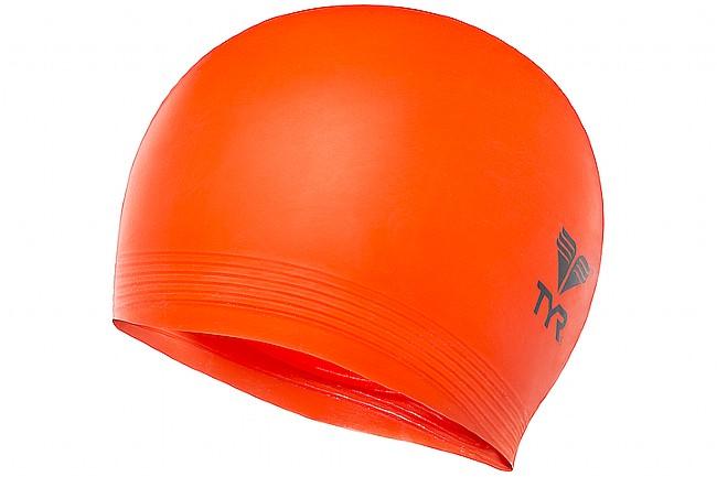 TYR Sport Latex Swim Cap Fluorescent Orange