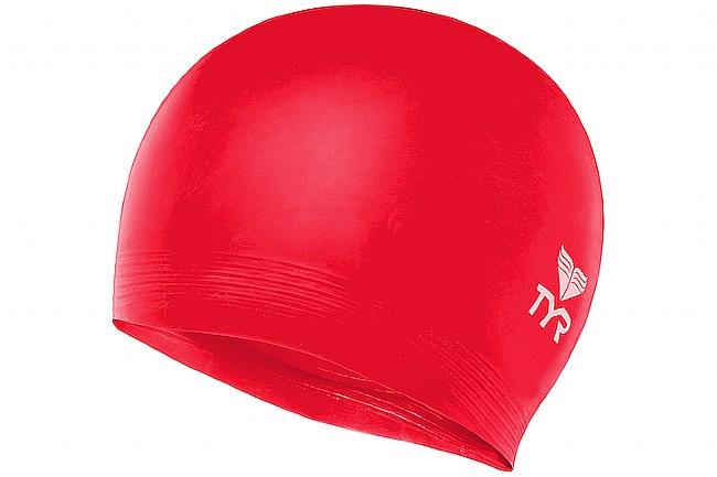 TYR Sport Latex Swim Cap Red